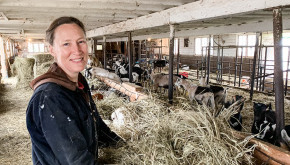 Hannah Sessions, co-owner of Blue Ledge Farm