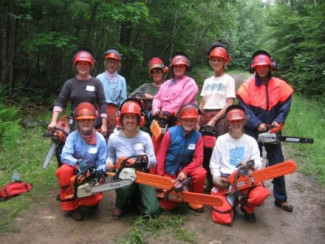 Women's Chainsaw Safety, Hidden Valley Nature Center, Jefferson, Maine
