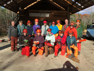 Women's Chainsaw Safety and Maintenance class, Maine