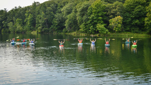 Women's woodland paddle event